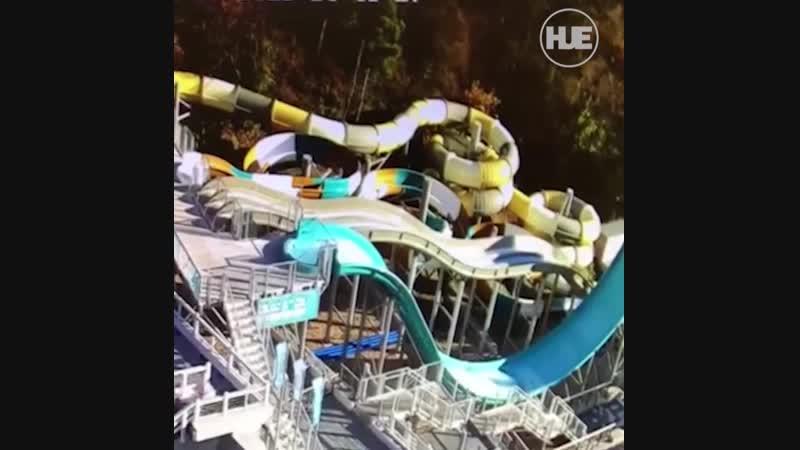 Падение самосвала на аквапарк в Ялте