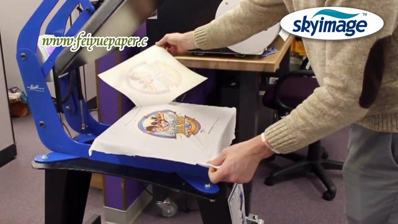 Нелипкая сублимационная бумага, напечатанная на широкоформатном струйном принтере