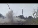 Вчерашний обстрел из реактивного гранатомёта позиции САА на окраине города Альбу Камаль.