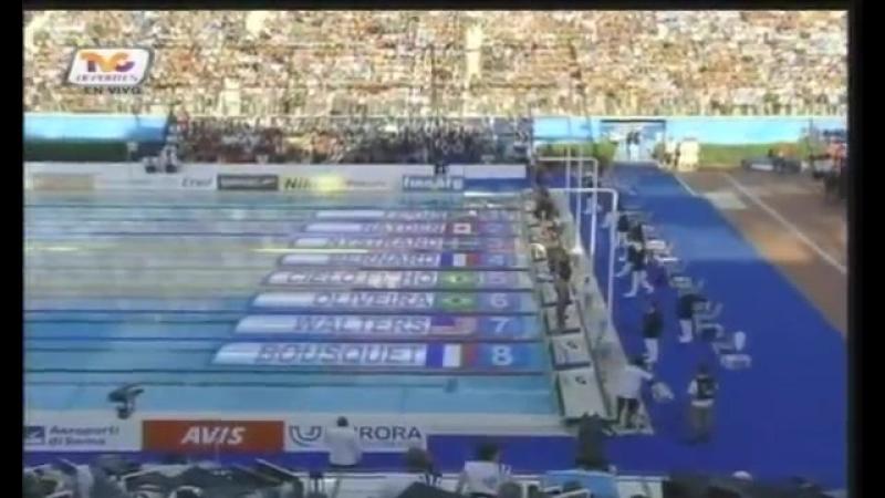 Cesar Cielo BRASIL (46.91) 100 m livre new world record Roma 2009