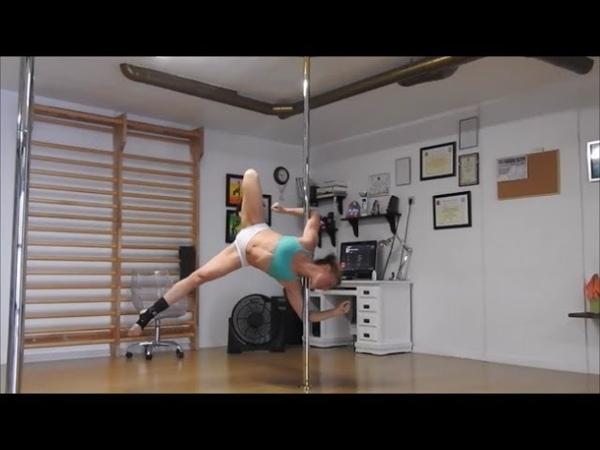 Pole Fitness Training. July 2017.