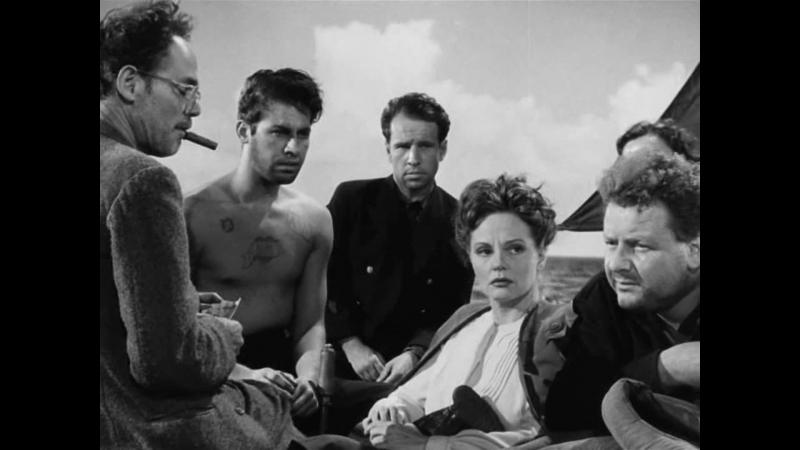 СПАСАТЕЛЬНАЯ ШЛЮПКА 1944 военная драма приключения Альфред Хичкок 1080p