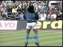 Maradona balla nel riscaldamento Napoli-Bayern Monaco