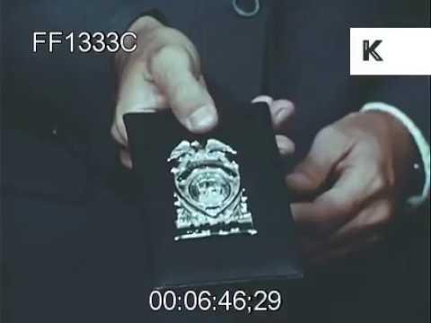 FBI Badge Special Agents Police Arrests 1960s USA