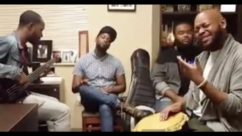 Trey McLaughlin Playing around with Good Father by Chris Tomlin with the guys