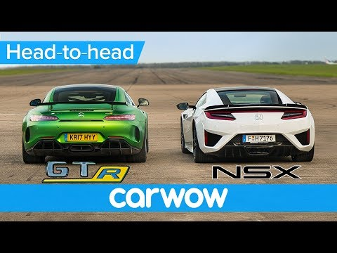 Honda NSX vs Mercedes-AMG GT R – DRAG RACE, ROLLING RACE BRAKE TEST | Head-to-Head