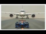 #Видео_дня Болид Формулы-E посоревновался с двумя самолетами.