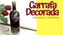 Diy - Como Fazer Decoração em Garrafas de Vidro com Papel - Estilo Medieval / DO LIXO AO LUXO