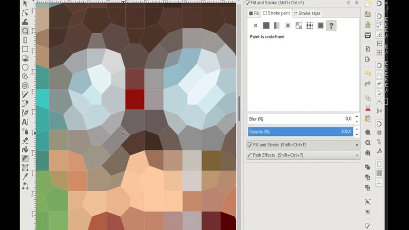 Stroke as fill, Delaunay triangulation and others cool effects in Inkscape