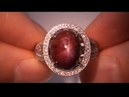 Vintage Star Ruby Diamond Ring Being Auctioned on eBay