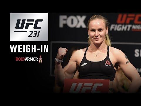 UFC 231: Weigh-in