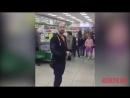 Благовещенцы спели День победы в супермаркете