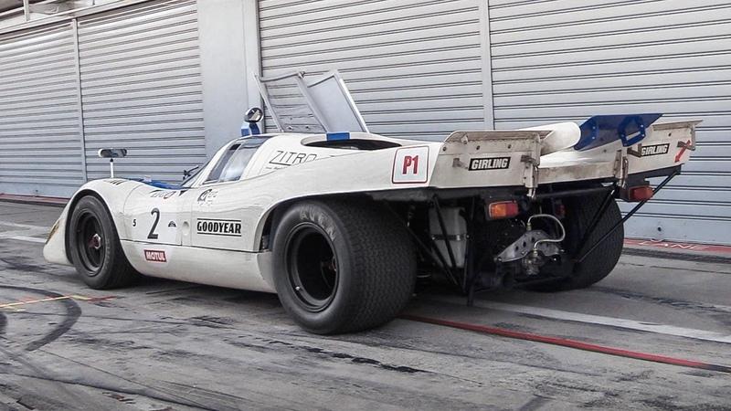 1970 Porsche 917K Warm Up, Demonic Downshifts RAW Flat-12 Sound!