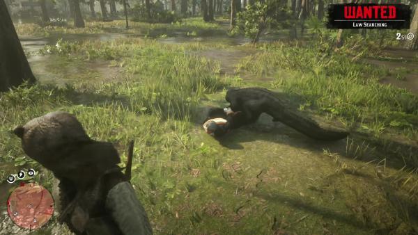 Red Dead Redemption 2 издевательство с алигатором над суфражисткой PlayGround.ru