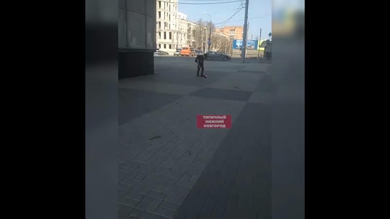 Огненный футбик на площади Лядова - Типичный Нижний Новгород