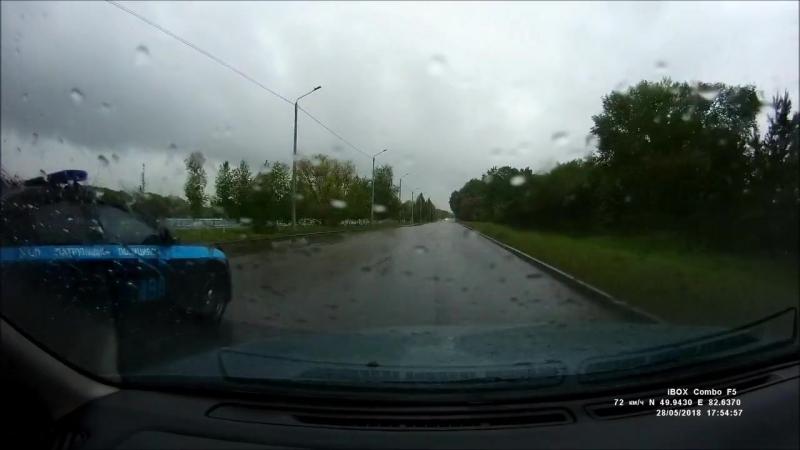Усть-Каменогорск, полицейские любят превышать скорость!