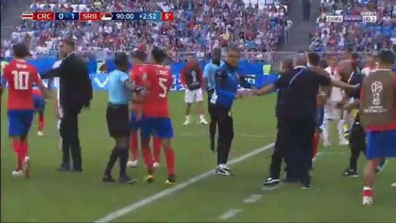 Неманья Матич против скамейки запасных Коста Рики