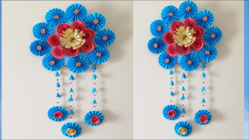 How to make an awesome wall hanging out of papers, DIY home decoration idea.cool idea u should try,