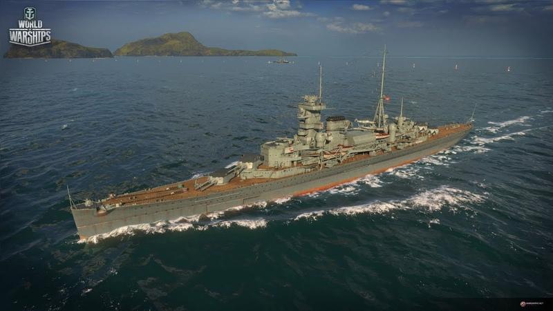 WOWs Blitz. Обзор крейсера Германии Admiral Hipper.