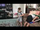 Sword fight with Holden and Bennett - slow motion spanking