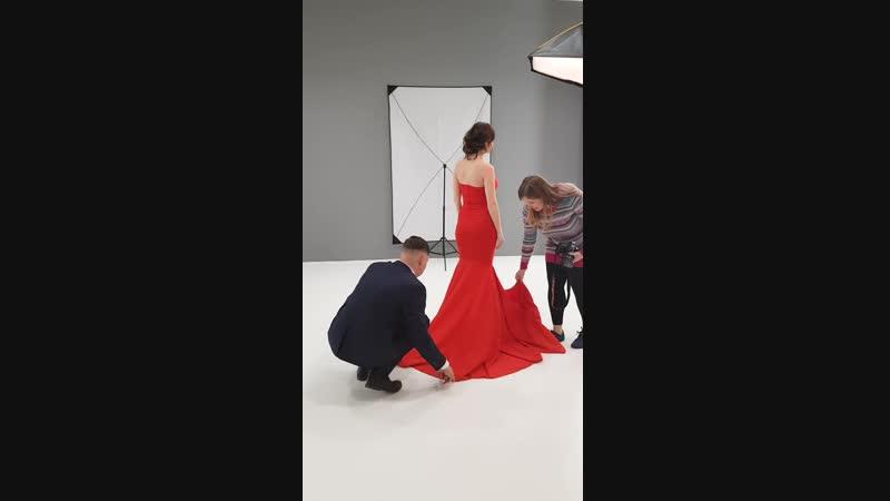 Беременность в стиле Vogue бэкстейдж