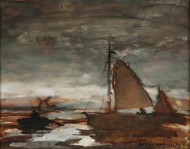 Ян Вейсенбрух (нид. Jan Weissenbruch, род. 18 марта 1822 - 1880 г. Гаага) голландский художник, один из лучших представителей Гаагской школы в области городского пейзажа. Родился в Гааге. В