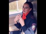 Лейтенант полиции спела блатняк за рулем BMW.
