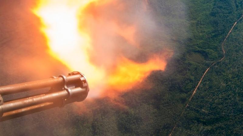 LEGENDARY AC-130 IN ACTION • SPOOKY GUNSHIP FIRING • CANNONS GATTLING GUN LIVE FIRE