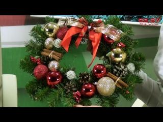 Мастер-класс # 28 Рождественский венок на дверь своими руками