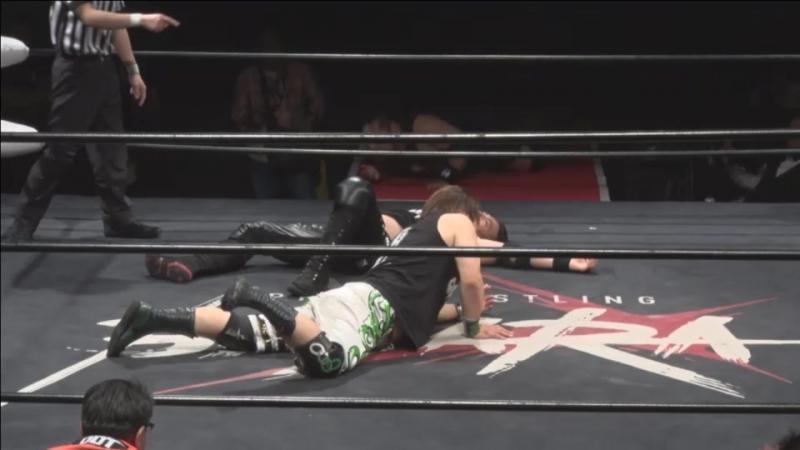 Takumi Tsukamoto, Yasu Urano, Akiyori Takizawa vs. FUMA, SAGAT, Yusuke Kubo (BASARA - Vajra 65 ~ Feast)