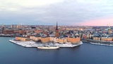 Stockholm Aerial - Drone views over the capital city of Sweden