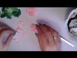 Подарочный горшочек с цветами из лент 1,2см-Мк розы-Подарок на 8 марта-DIY