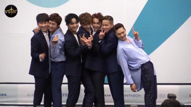 [PRESS] 16.06.2018: BTOB на пресс-конференции '2018 United Cube One' @ Vstar