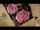 Урок №3. Как нарисовать розу. Рисуем лессировками в стиле голландского натюрморта