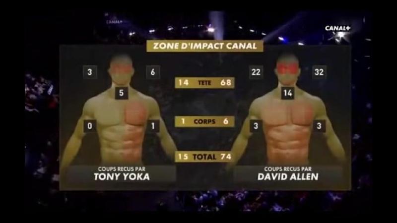 Тони Йока vs Дэвид Аллен (полный бой) [23.06.2018]