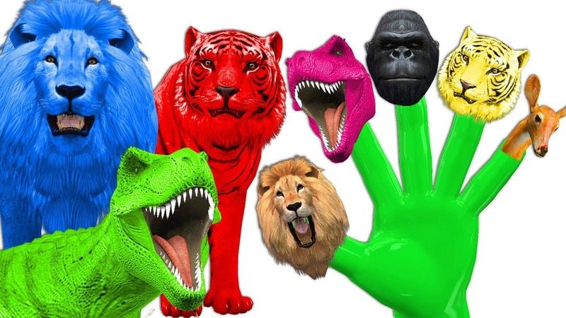 Colors Dinosaurs Gorilla Animals Finger Family Rhymes | Mega Finger Family Collections For CHildren