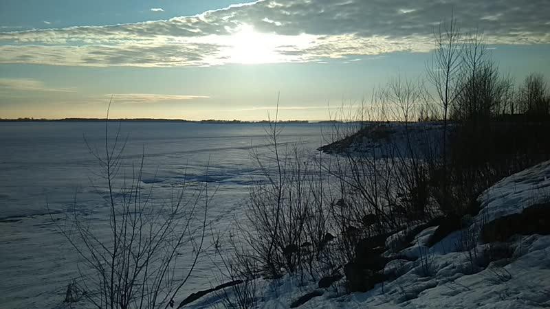 Весна Волга пос Васильево 18 03 2019г 1