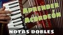 Aprender Acordeon CLASE 43: Notas Dobles: Ejecucion en la mano derecha (Estudios)