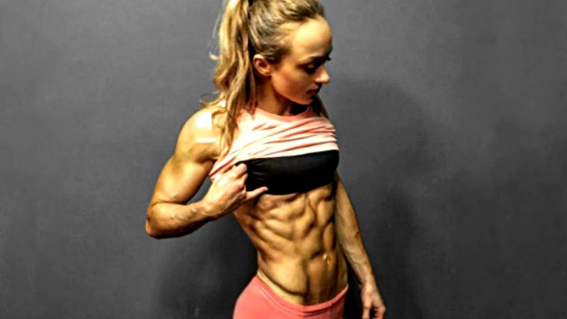 BEST OF GIRLS WITH ABS | Workout Posing Flexing - PART 4