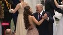 Лукашенко танцует вальс с Мисс Беларусь Марией Василевич на Республиканском новогоднем балу