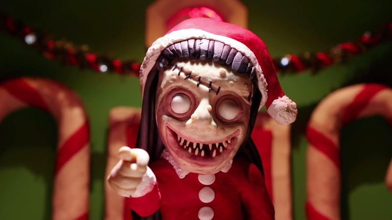 "Trent Shy - Christmas Horror Claymation (from Alan Robert ""The Beauty of Horror Ghosts of Christmas Coloring Book"")"