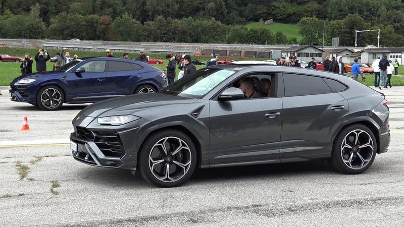 Lamborghini URUS Goes Drag Racing Against AVENTADOR SV HURACAN PERFORMANTE!