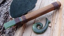 Making a Maori Style Wood Carving Chisel From Jade Whao