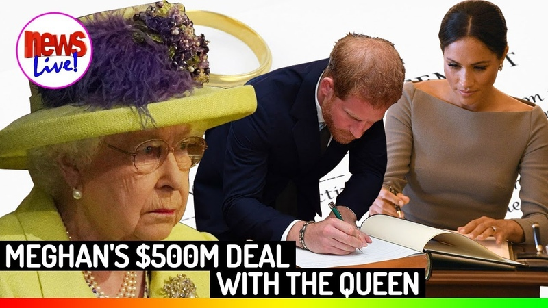 Meghan Markle's E-X-P-L-O-S-I-V-E $500M Deal With The Queen Palace Fell Into Spin!