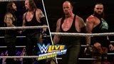 Undertaker &amp Roman Reigns &amp Strowman Vs Kevin Owens &amp Baron Corbin &amp Elias Six Man Tag WWE MSG 2018