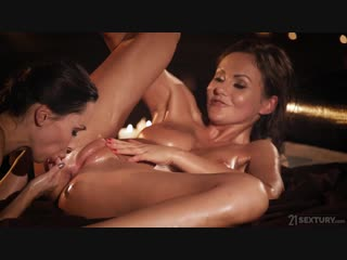 Tina kay and lilu moon - when two women love each other [lesbian, oiled]