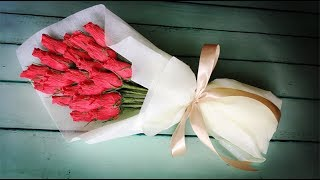 ABC TV   How To Make Rose Bud Bouquet From Crepe Paper - Craft Tutorial