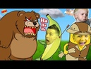 Милана Даня и ПУТЕШЕСТВИЕ БАНАНА ОГРОМНЫЙ Медведь в игре Banatoon Побег FFGTV от злых Героев