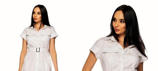 17b275dbb4e Купить Женское льняное платье-халат с поясом в Одессе от компании