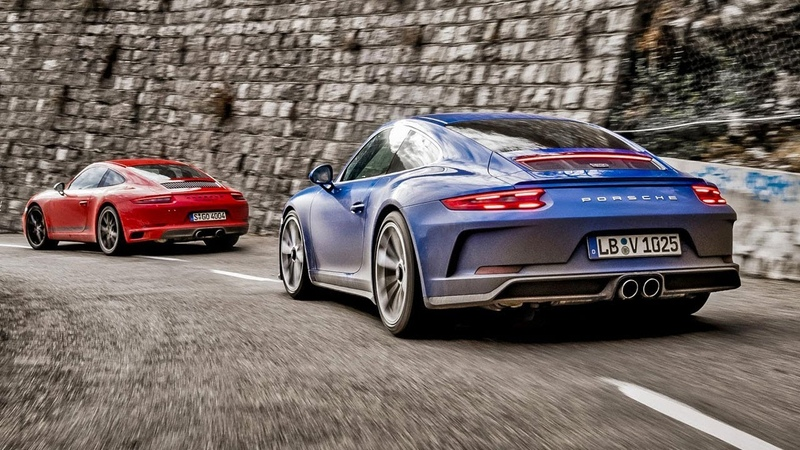 Porsche 911 Carrera T vs Porsche GT3 Touring | Top Gear